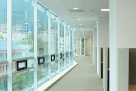 Office Buildings Save Energy While Adding Comfort And Privacy To Any Commercial E Invisishade Can Be Installed On Windows Internal Parions Doors